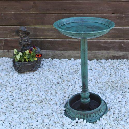 Vogeltränke VGT1 Vogelbad Vogel Tränke Bad mit Fuß zum bepflanzen antike Schale