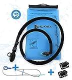 Luamex Trinkblase - Outdoor – 2L Wasserblase – BPA frei - Trinkbeutel – Trinksystem mit On/Off Ventil, isolierter Trinkschlauch – ideal für Trinkrucksack, Laufen, Radfahren, Wandern, Camping