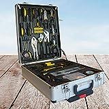 DB 186-teiliges Werkzeugset Repair Kit Werkzeugkiste Werkzeugkoffer Werkzeugsortiment Werkzeugbox Universal Werkzeug Haushaltskoffer Werkzeugtasche (Gelbschwarz)