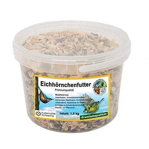 Eichhörnchen Nahrung, 1,5 kg Eimer