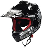 "ARMOR · AKC-49 ""Black"" (Schwarz) · Kinder-Cross Helm · Enduro Motorrad Sport Moto-Cross Off-Road Kinder · DOT certified · Click-n-Secure Clip · Tragetasche · S (53-54cm)"