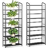 Yaheetech 2 Set Blumentreppen Pflanzenregal Treppenregal Gartenregal Metall, Regal für Pflanzen, Stufenregal mit 5 Böden für Garten Dekoration,160 x 66 cm