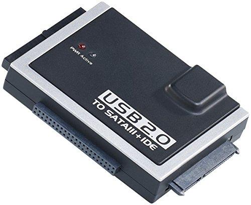 Xystec Festplattenadapter: Universal-Festplatten-Adapter IDE/SATA auf USB 2.0, für HDDs & SSDs (Festplatten Dockingstations)