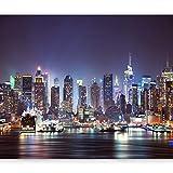 murando - Fototapete New York 400x280 cm - Vlies Tapete - Moderne Wanddeko - Design Tapete - Wandtapete - Wand Dekoration - Stadt City New York d-B-0034-a-b
