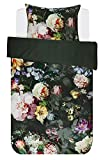 Essenza Bettwäsche Fleur Grün Blumen Blüten Baumwollsatin 135 cm x 200 cm