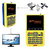 GTMEDIA V8 Satelliten Finder Sat Finder Satellitenfinder FTA DVB-S2 TV Satelliten Signal Empfänger, HD 1080P 3,5'LCD Eingebaute 3000mAh Batterie