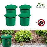 Gardigo Schnecken-Falle 4er Set | Bio Schneckenschutz für den Garten | Umweltfreundliche Schneckenbekämpfung | Sicher und Effizient | Deutscher Hersteller