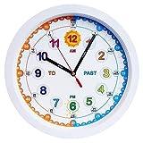 Aniclock Time Teacher Kinder Wanduhr, Leicht zu Lesen Uhr mit Silent Bewegung. Kinder lehren, Wie Man zu Lesen Eine analoge Uhr mit Diesem Perfekte Geschenk, 29cm Durchmesser