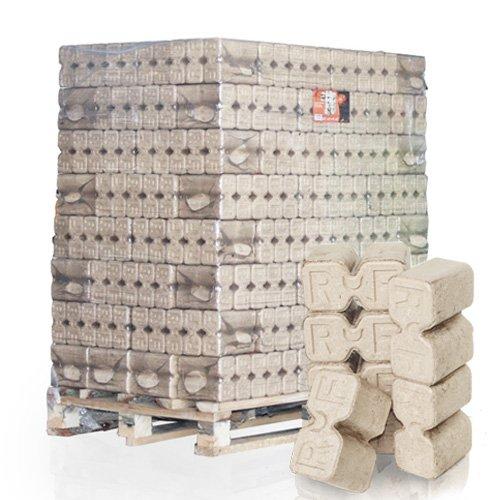 PALIGO RUF Holzbriketts Duplex Hartholz Eiche Kamin Ofen Brenn Holz Heiz Brikett 10kg x 96 Gebinde 960kg / 1 Palette HEIZFUXX