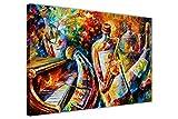 New Abstrakt Flasche Jazz Musiker von Leonid Afremov auf Leinwand gerahmt Modern Art Wand Bilder Größe: 101,6x 76,2cm (101x 76cm)