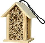 Luxus-Insektenhotels 22260e Insektenhotel für Wildbienen mit Schilf, Insektenhaus für Bienen, eckig, Natur