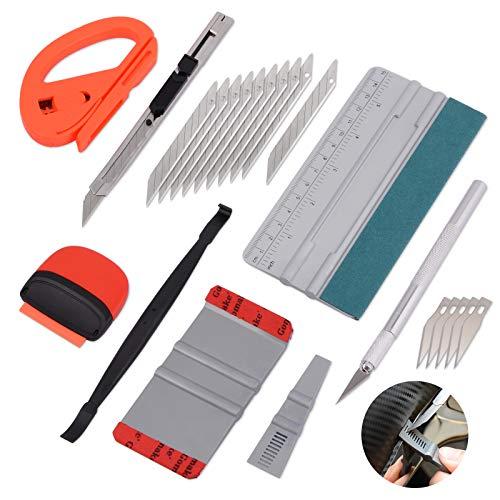 Winjun Auto Vinyl Wraps Set Autofolie Folierungs Werkzeug Folienrakel 9mm Cuttermesser Mini Schaber Micro Rakel Folienschneider