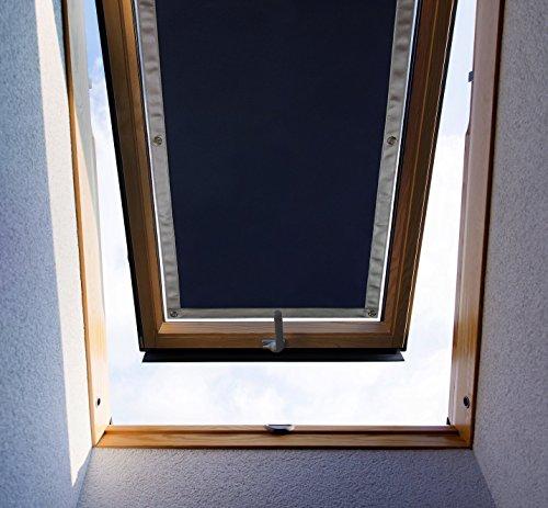Purovi Thermo Sonnenschutz für Dachfenster | passend für Velux + Roto Fenster | Größe für: Velux M08 und 308 – 59 x 114cm