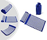 Leogreen - Akupressurmatte und Kissen-Set, Massage-Set für Zuhause, Lila, mit Tasche und Kissen, Standard/Zertifizierung: ROHS