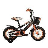 Cvbndfe Indoor Cycling Bike Stationary Kinder Jungen Gilrs Fahrrad 12inch mit Stablizers Alter 3-5Y Cycle Bike Komfortables Sitzkissen (Farbe : Orange)