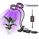 Lovebay 12W 36-LED Pflanzenlicht(24 Rote,12 Blaue)||Zimmerpflanzen Pflanzenlampe||Dimmbar 5 Lichtstärken||mit Klemmhalterung||3 Modes Timer (3H/6H/12H)||360 ° flexibler Schwanenhals, für Büro Haus