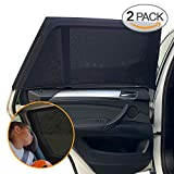Sundell 2 Pack Sonnenschutz Auto - UV Schutz Sonnenrollo Autofenster für Kinder Baby Erwachsene Haustiere - Tragbare Auto Sonnenblende - 40'x20' für Die Meisten Auto