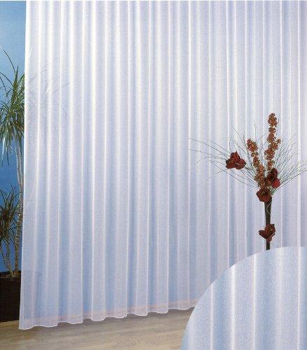 heimtexland Gardinen Vorhang Store Webstore halbtransparent mit Kräuselband und Bleibandabschluss HxB 245x300 cm Typ96