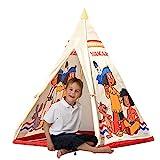 John 78607 - Yakari Tipi Zelt - Indianerzelt, Wigwam, Spielzelt, Kinderzelt, Spielhaus mit gedrucktem Motiv für Kinder