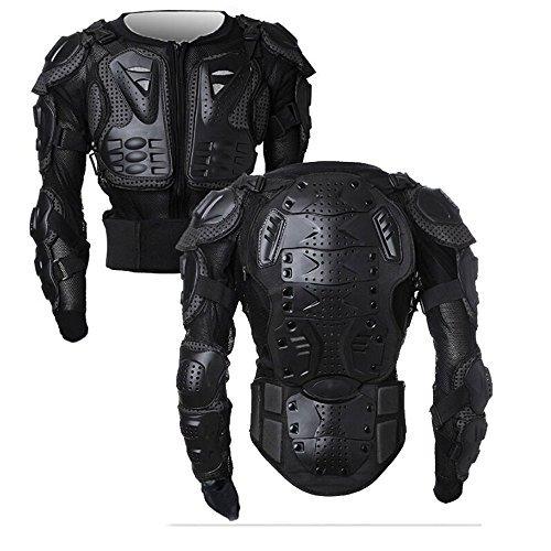 SunTime Motorrad Schutz Jacke Pro Motocross ATV Protektorenjacke mit Rücken Protektor Scooter MTB Enduro für Damen und Herren Schwarz M