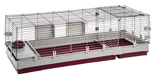 Ferplast Nagerheim Krolik 160 für Kaninchen und andere Kleintiere / Erweiterbarer Kleintierstall mit umfangreichem Zubehör / Maße 162 x 60 x 50 cm