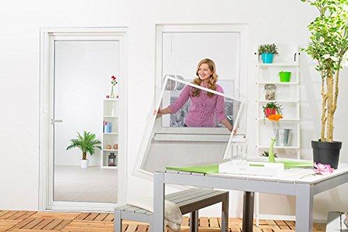 Insektenschutz Fliegengitter Fenster START Fliegenschutz Alurahmen Mückengitter in weiß, braun oder anthrazit als Selbstbausatz, auf Maß geschnitten oder komplett aufgebaut.