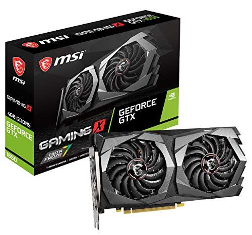 MSI Gaming GeForce GTX 1650 128-Bit HDMI/DP 4GB GDRR5 HDCP Unterstützung DirectX 12 Dual Fan VR Ready OC Grafikkarte (GTX 1650 Gaming X 4G)