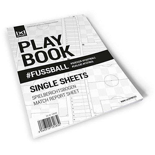 Spielberichtsbogen - 1x1SPORT Playbook #FUSSBALL - Fußballblock