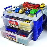 HapiLeap Spielzeuggarage Parkgarage Parkhaus mit Aufbewahrungsbox Garage Spielzeug Feuerwehr Auto Hubschrauber Set Kleinkinderspielzeug für Kinder ab 3 4 5 6 Jahre Mädchen Junge