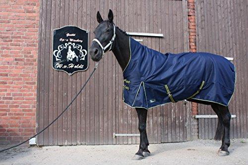 time4horses 1200Denir High Neck Pferdedecke Regendecke Paddockdecke Stalldecke Weidedecke Rug (135 cm)