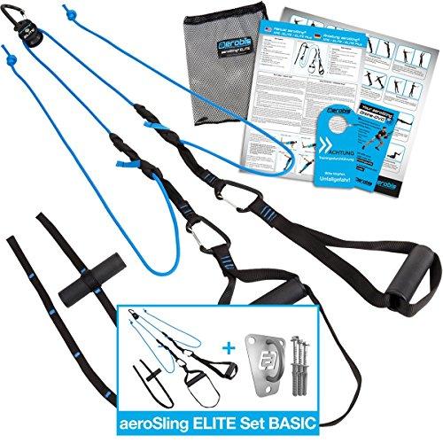 Umlenkrollen Schlingentrainer aeroSling Elite, Sling-Trainer inkl. online Fitness DVD