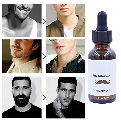 Bobora Rasieröl für die Rasur vor dem Rasieren Bart baren Antibakterielles Anti-Statik-Öl für die Rasur vor der Rasur für eine reibungslose, glatte, reizfreie Rasur