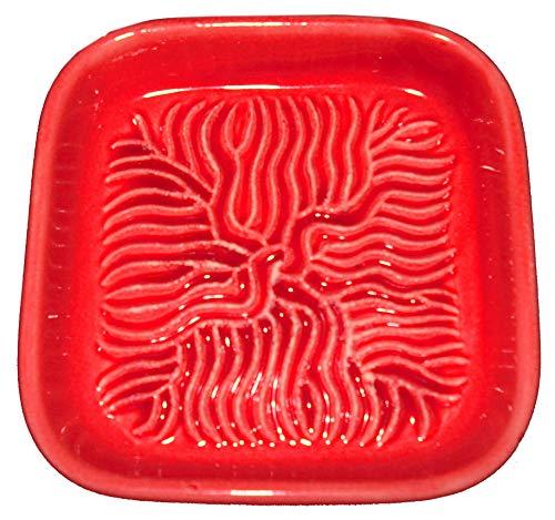 Ceramico Reibe (Rot) handwerklich gefertigte Keramik Reibe aus Finnland geeignet zum Reiben jedes essbaren Produktes wie Muskatnuss, Parmesan, Ingwer, Knoblauch und andere