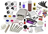 Nagelstudio Starter Set | UV Gel Set | Nagelfräser | UV Lampe 36 Watt | Nailartmix | Uv Farbgele|