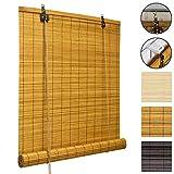 Sol Royal Bambusrollo SolDecor B86 - Bambus-Raffrollo Klemmfix Ohne Bohren - Fenster Rollo Bambus - Holzrollo in Verschiedenen Farben und Größen