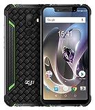 ZOJI Z33 Outdoor Smartphone 4G LTE ohne Vertrag Android 8.1 Handy - 5.85 Zoll HD +Notch-Bildschirm mit 19:9 Vollansicht, IP68 Wasserdicht/Staubdich, Quad Core 1.5GHz 3GB+32GB, 13MP+16MP - - Grün