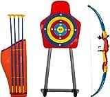 Savage Island Kinder Spielzeug Pfeil & Bogen & Bogenhalter Set mit Zielscheibe im Freien Spaßspiel
