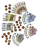 Polly Spielgeld für Kinder Kaufladen | Rechengeld für Spielzeug Kasse| Spielwaren Kaufmannsladen Zubehör 56-Teilig