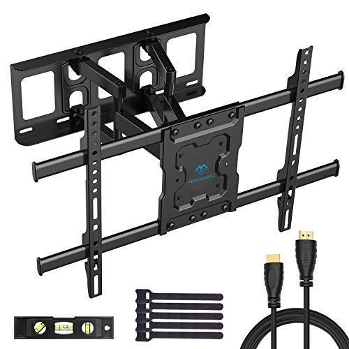 TV Wandhalterung, Schwenkbare Neigbare TV Halterung für 37-70 Zoll Flach & Curved Fernseher oder Monitor bis zu 60kg, max.VESA 600x400mm
