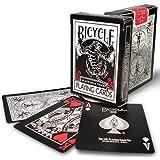 Bicycle Ellusionist Pip Spielkarten mit schwarzem Tigerdeck, Motiv: Fahrrad PosTTIG, Rot