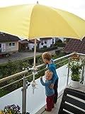 2 X - SONNENSCHIRMHALTER für BALKONGELÄNDER 25,5 mm bis 55 mm Ø für Außen oder Innen Befestigung mit 11 + 6 cm Abstands Schirmhalter - Holly patentiert - für BEFESTIGUNG an runden oder eckigen Elementen mit Ø bis 55 / 60 mm mit der Multi - Halterung 360 ° DREHBAR - INNOVATIONEN MADE in GERMANY - Holly Produkte STABIELO - holly-sunshade  -
