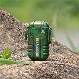 Star Supermarket Elektrisches Feuerzeug, wasserdichtes USB-Plasma-Doppelbogenfeuerzeug für Outdoor-Camping-Sport-Zigarettenanzünder