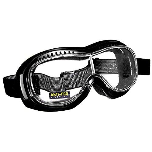Pi-Wear Toronto Klare,Winddichte Überbrille für Brillenträger mit Polster