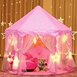 Joylink Kinderspielzelt, Prinzessin Castle Spielzelt für Kinder mit Sternen,53 '' x 55 '' (DxH)