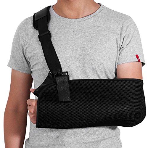 HEALIFTY Armschlinge - Schulter-Wegfahrsperre für gebrochenen gebrochenen Arm - Justierbarer Arm, Schulter-Rotator-Manschetten-Stützklammer - für Riss, Luxation, Verstauchungen und Dehnungen