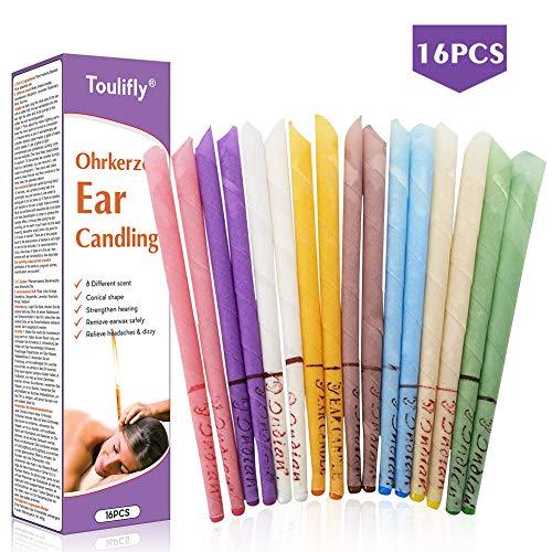Ohrenschmalz kerze, Ohrenschmalz entferner, Bienenwachs kerzen, Ohrenschmalz entfernen,16x Ohrkerzen, Mit Filter inkl. Anleitung Mix