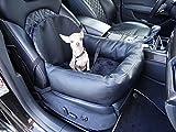 Hossi's Wholesale Knuffliger Leder-Look Autositz für Hund, Katze Oder Haustier + Premium Hunde-Sicherheitsgurt
