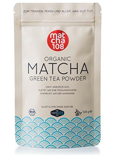 matcha108 - Bio Matcha Tee in Premium Qualität (Ceremonial Grade), 108g