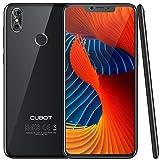 CUBOT P20 Ultra Dünn 4G-LTE Dual SIM Smartphone ohne Vertrag, 6.18' (19:9) IPS FHD Touch Display mit 4000mAh Akku, 4GB Ram + 64GB interner Speicher, 20MP + 2 MP/13MP, Android 8.0, Octa-Core, Schwarz