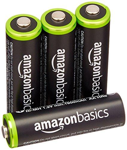 AmazonBasics Vorgeladene Ni-MH AA-Akkus - Akkubatterien (1.000 Zyklen, typisch 2000mAh, minimal 1900mAh) 4 Stck (Äußere Hülle kann von Darstellung abweichen)